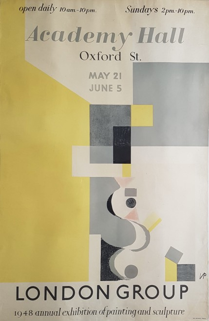 Victor Pasmore, London Group Poster, 1948