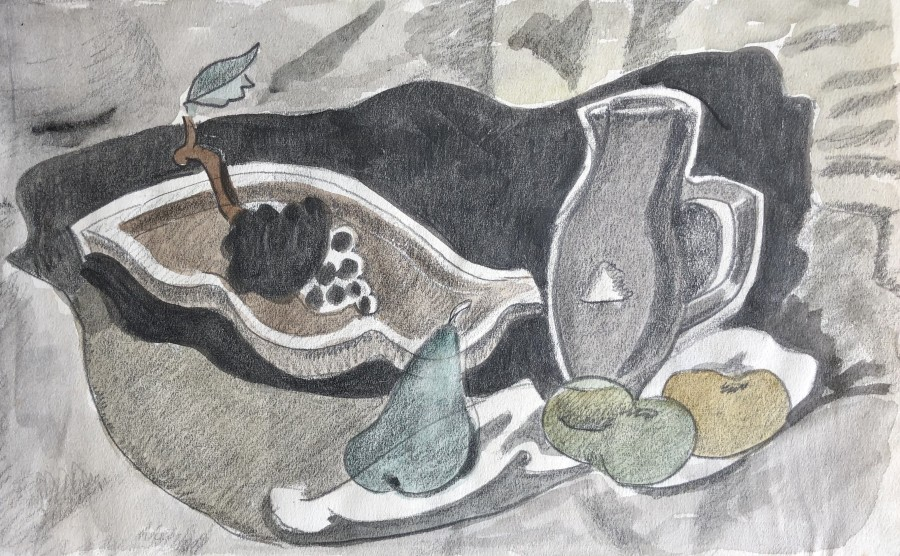 Doris Hatt, Still Life with Jug and Fruit, 1950s