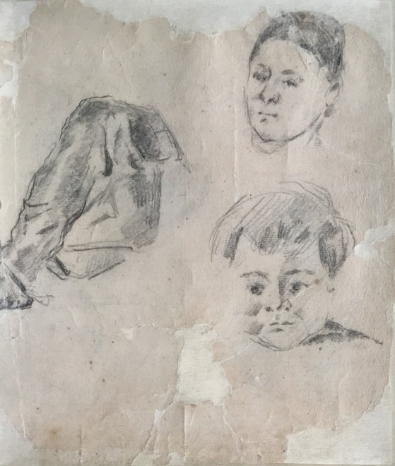 Study of Madame Cezanne and the artist's son Paul