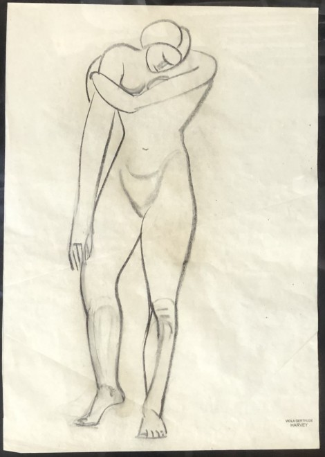 Viola Gertrude Harvey, Cubist Nude Study, c. 1928