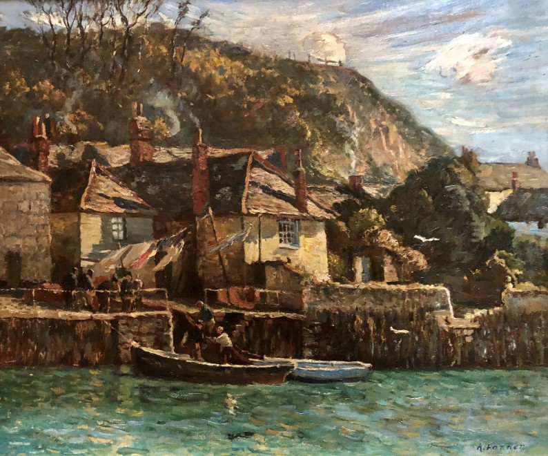 Alice Fanner, Unloading the Catch in a Cornish Harbour, c. 1898