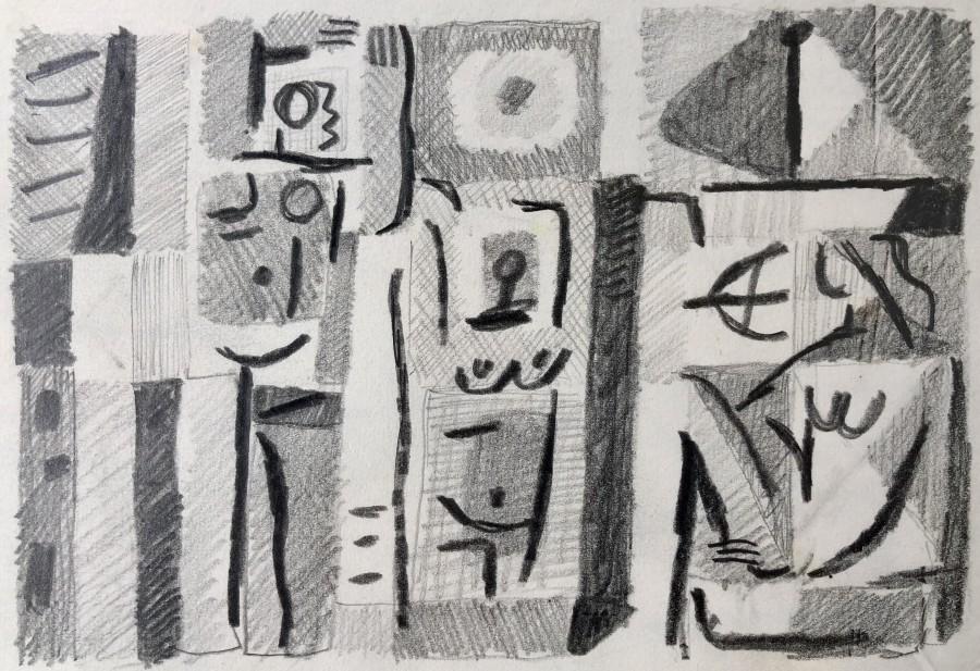 Carlos Carnero, Étude pour les baigneurs, 1957