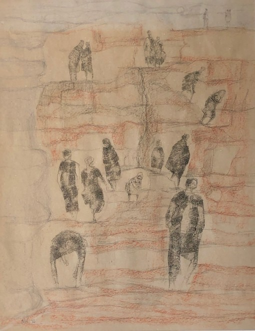 Austin Wright, Figures on a Cliff, 1956
