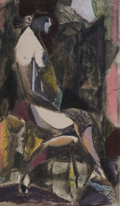 Kenneth Lauder, Nude on a Chair, 1951
