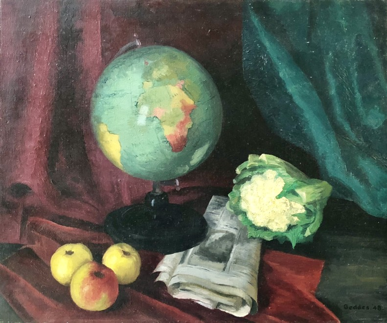 Margaret Geddes, Still Life with Globe, 1948