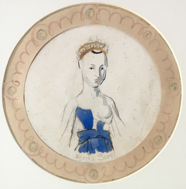 VANESSA BELL (1879-1961)  AGNES SOREL PLATE  SOLD