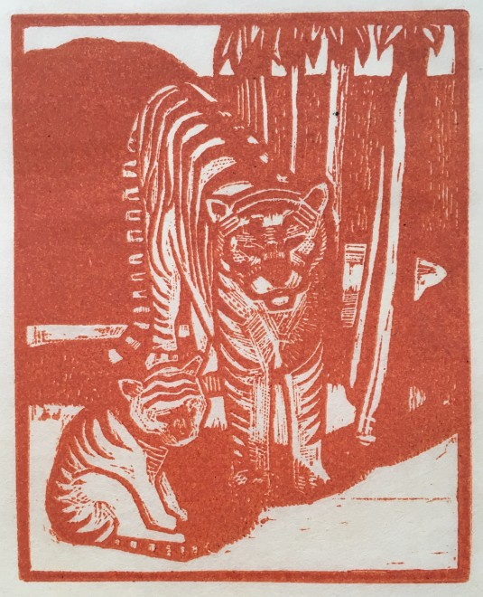 RUPERT LEE (1887-1959)  TIGER AND CUB, 1919