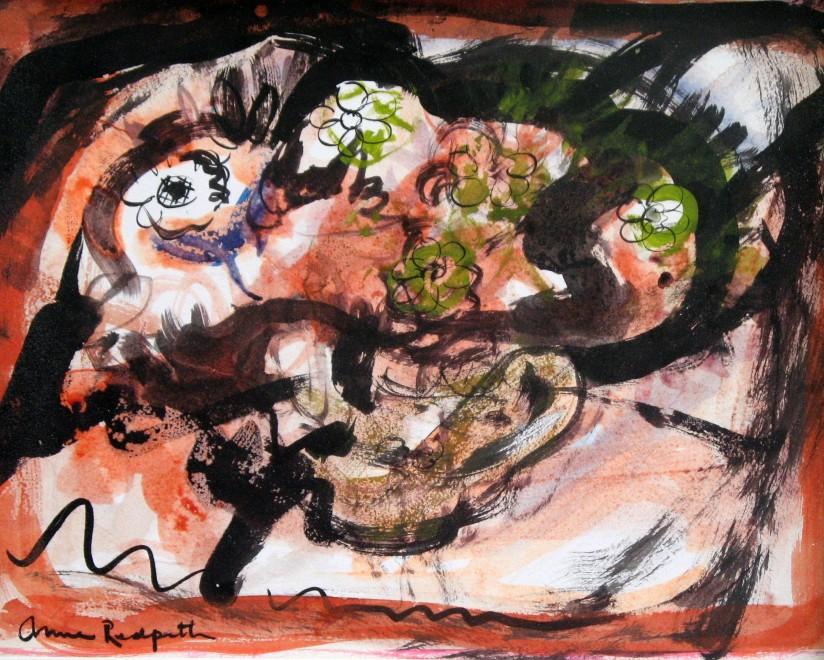 ANNE REDPATH (1895-1965)  FLOWERS IN A TEAPOT