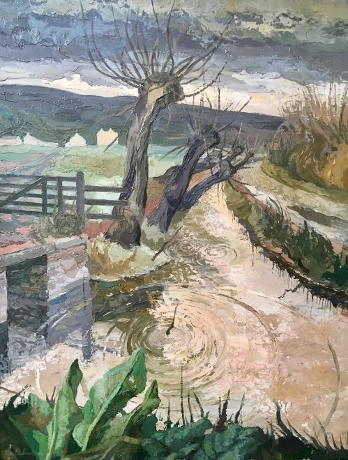 CÉCILE CROMBEKE (1921-2002)  MARCH IN SOMERSET