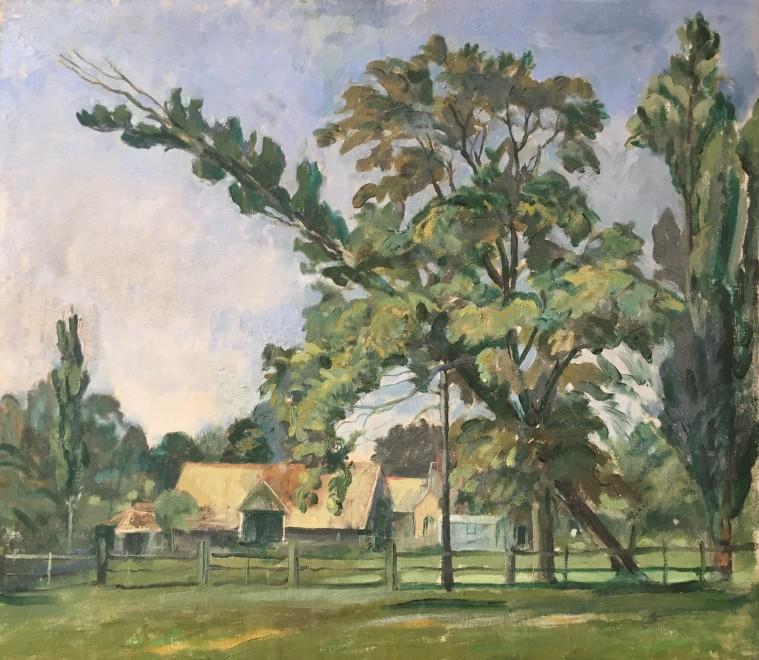 RUPERT LEE (1887-1957)  FARM NEAR IVER HEATH, BUCKS.