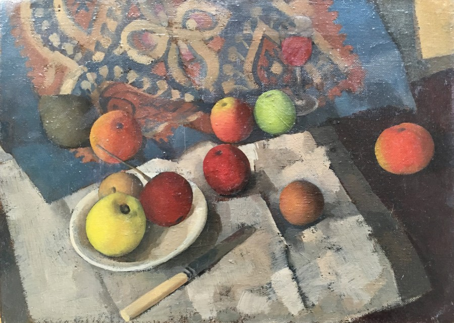 GORDON SCOTT (1914-2016)  STILL LIFE WITH APPLES, c. 1945