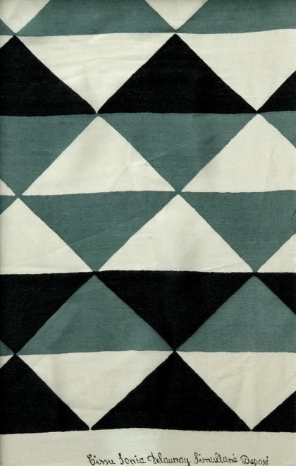 Sonia Delaunay, Projet de tissu, 1923