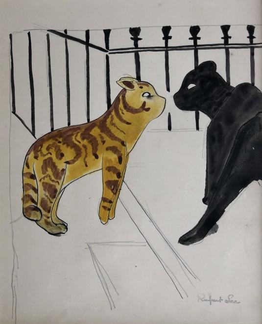 Rupert Lee, Two Cats, c. 1920
