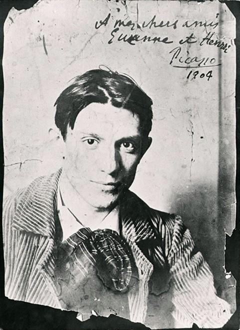 Pablo Picasso, Baigneuse au bord d'un ruisseau et un vieillard, 1903/4