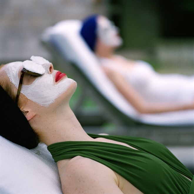 Women in Face Masks, Snedens Landing, NY