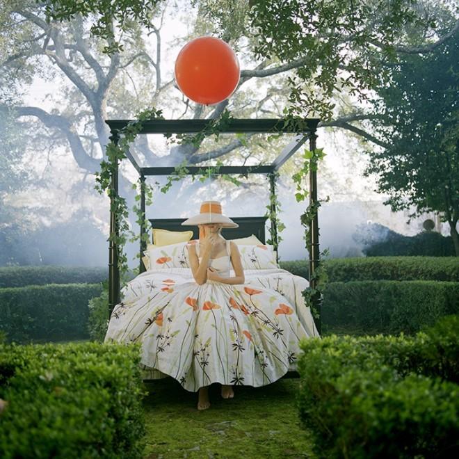 Maria Holding Orange Balloon, Charleston, SC