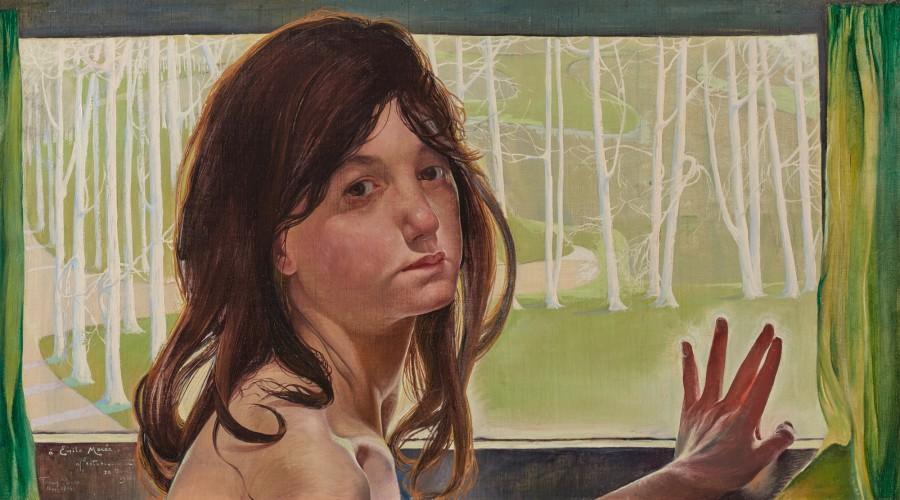Firmin Baes  Jeune fille à la fenêtre