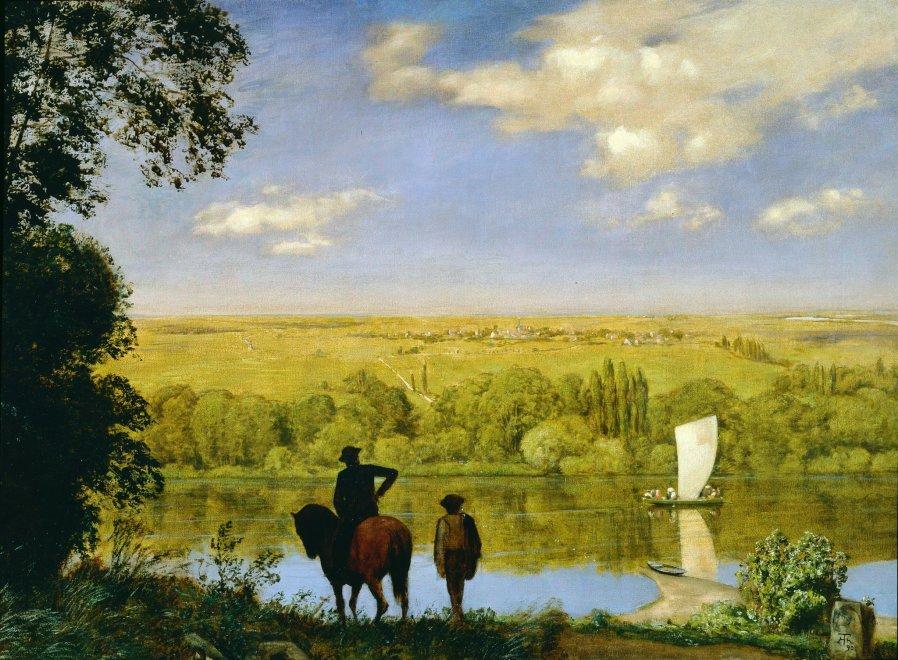 Mainlandschaft: Landscape with a Horseman on the Main