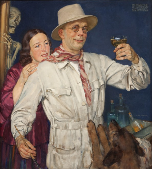 Self Portrait with his Wife