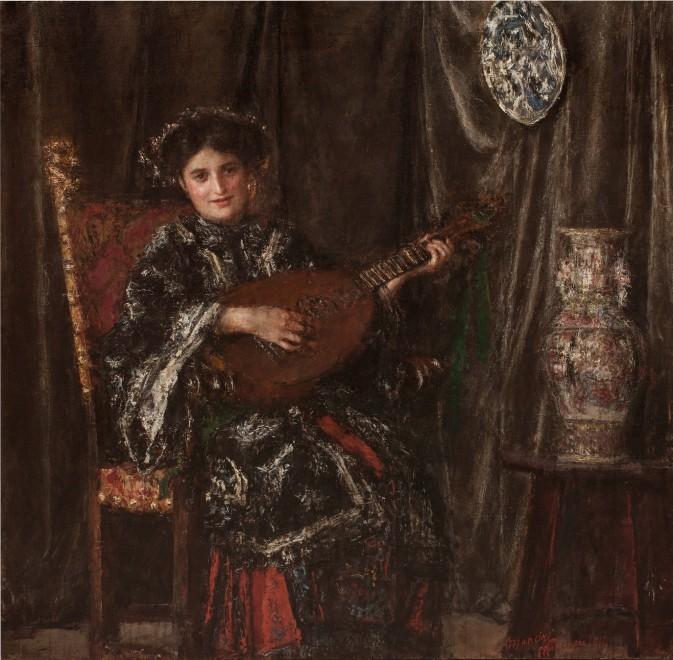Suonatrice di mandola, o Il costume giapponsese