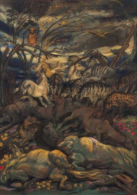 Le Charnier: Les Chevaux blessés (The Mass Grave: The Wounded Horses)