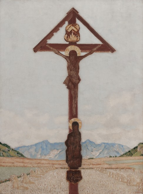 Tyroler Blechkreuz verrostet (Tyrolean rusted metal cross)