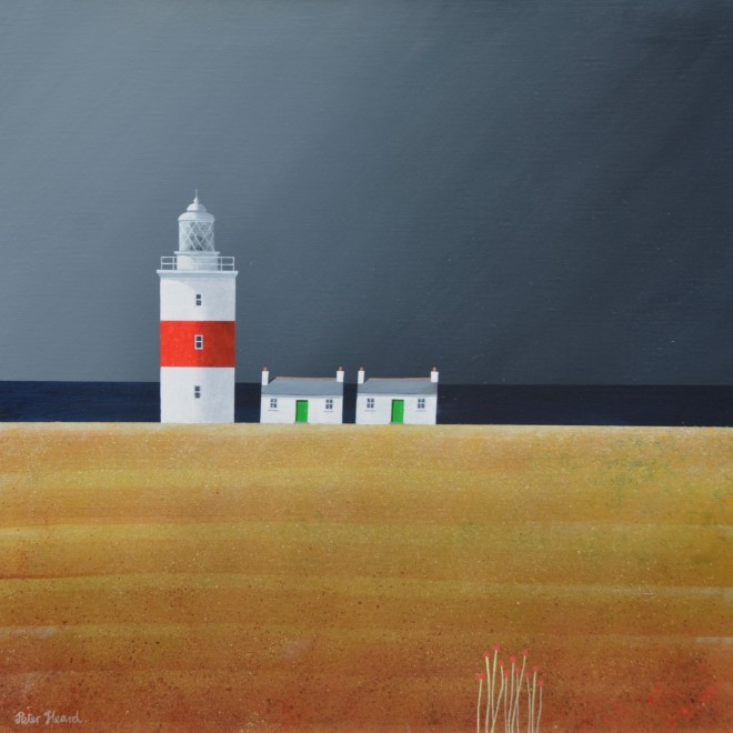 Lighthouse Station  20 x 20 ins  SOLD