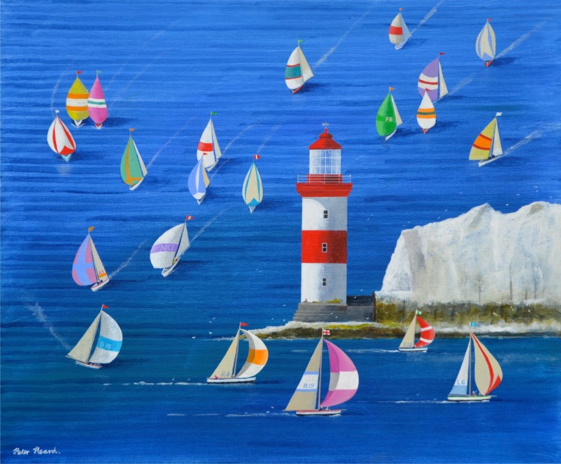 Needles Spinnakers  20 x 24 ins  SOLD