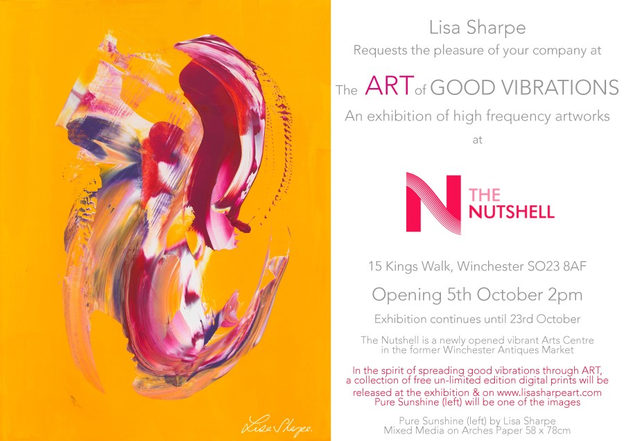 Winchester  THE NUTSHELL ARTS CENTRE  THE ART OF GOOD VIBRATIONS  October 2019