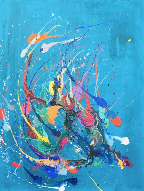 Lisa Sharpe Paintings, Freedom, Fly, Flow