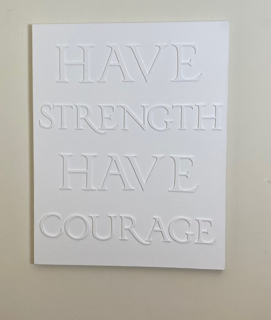 Lisa Sharpe Paintings, Have Strength, Have Courage