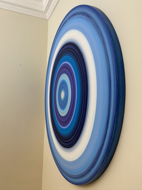 Lisa Sharpe Paintings, Portal Painting - Transcendence in Blues