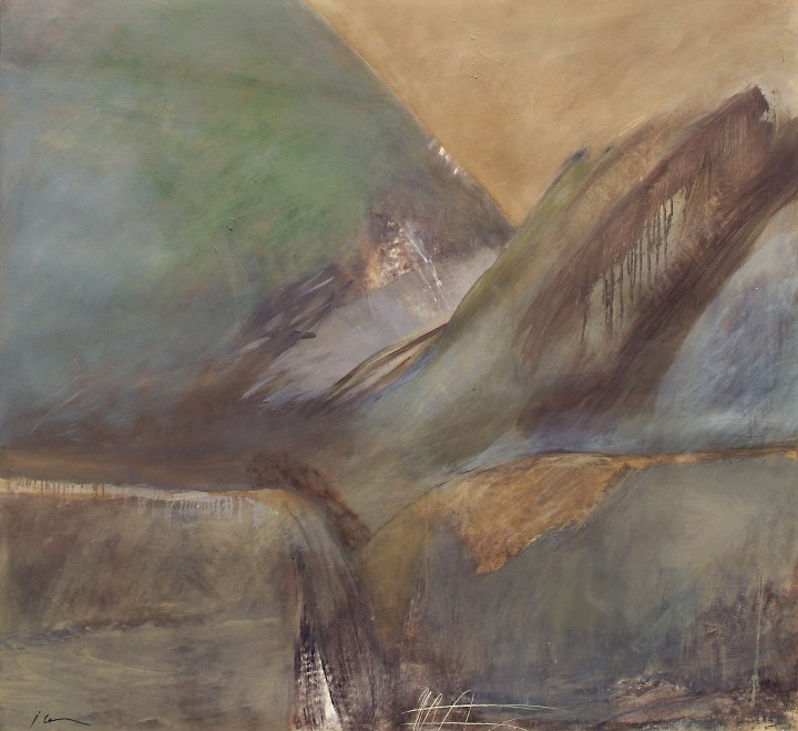 Jane Cook, Rain Slaps The Mountain