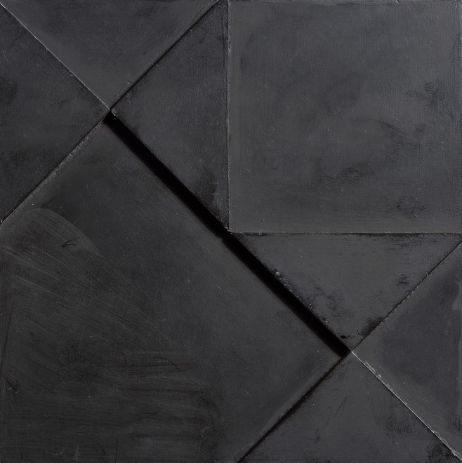 <p><strong>Jean Spencer,</strong> <em>Double Sided Black Relief</em>, 1975</p>