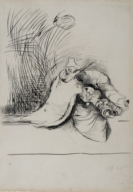 <p><strong>Graham Sutherland</strong>, <em>Study for Undulating Form</em>, 1972-73</p><p> </p>