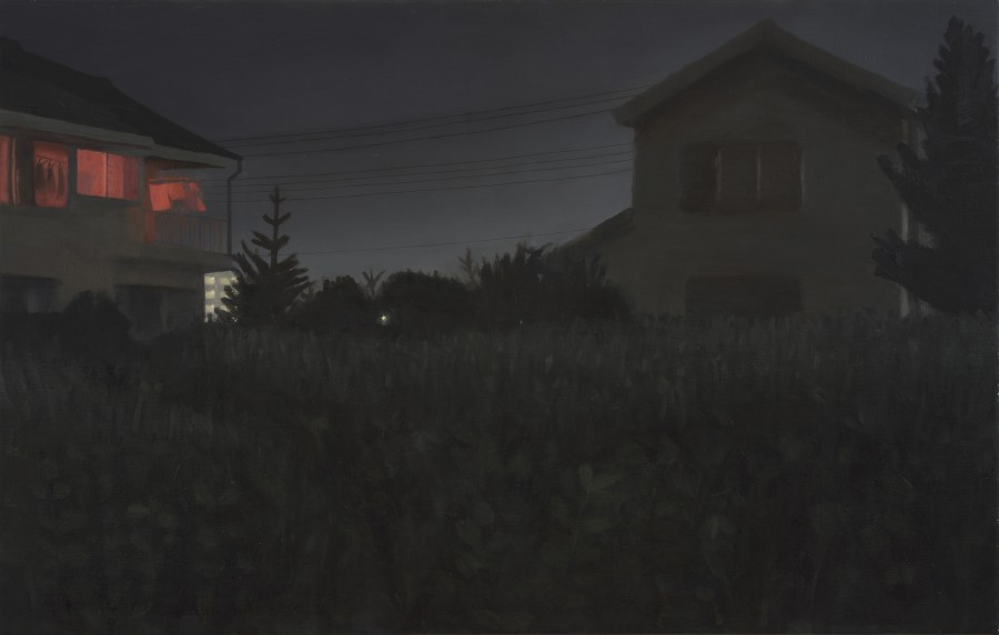 <p><strong>Danny Markey</strong>, <em>Buildings at Night in Gyotuku</em>, 1992</p>