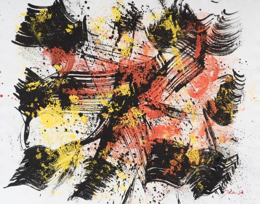 <p><strong>William Gear</strong>, <em>Gouache, Jan '59</em>, 1959</p>