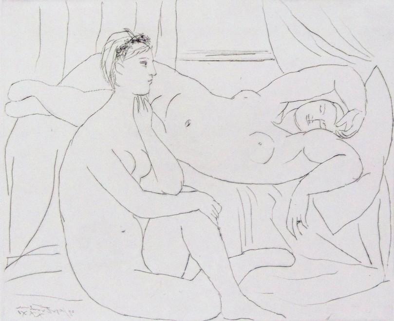 <p><strong>Pablo Picasso</strong>, <em>Women Resting | Femmes se Reposant, from: La Suite Vollard, plate 10</em>, 1931</p>