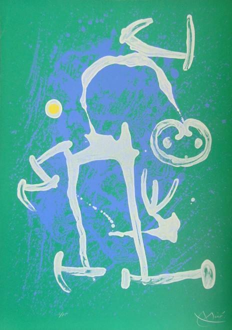 <p><strong>Joan Mir&#243;</strong>,&#160;<em>The Illiterate &#8211; Blue and White | L&#8217;Illettr&#233; Bleu et Blanc</em>, 1969</p>