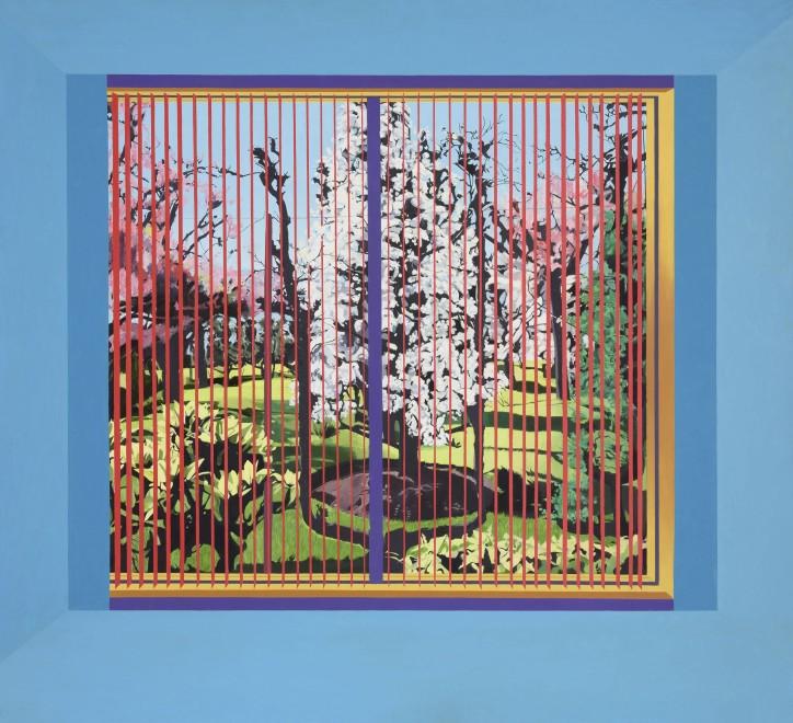 <p><strong>Neil Stokoe</strong>, <em>Widowscape with Blossom Tree</em>, 1979</p>