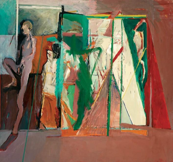 Figures in a Corridor