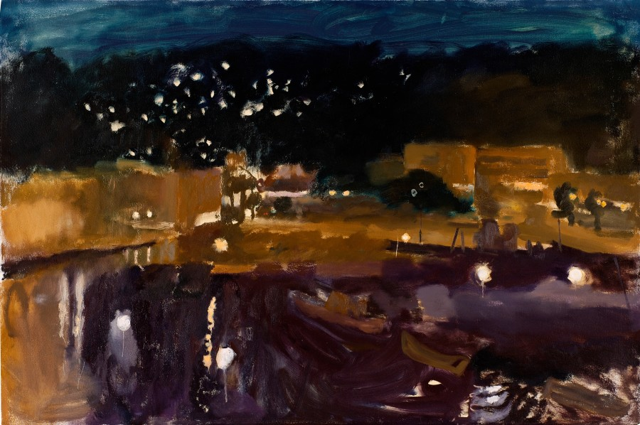 Harbour at Night (Prussian Blue Sky)