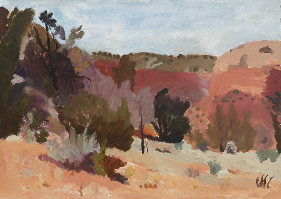 Trees and Sage Brush
