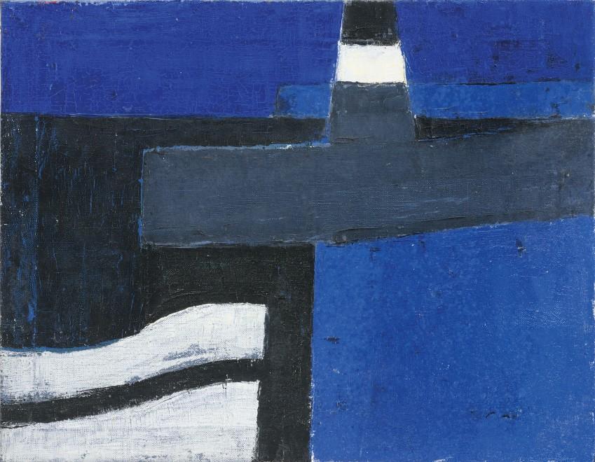 <span class=&#34;artist&#34;><strong>Margaret Mellis</strong></span>, <span class=&#34;title&#34;><em>Blue LIghthouse</em>, c.1952-54</span>