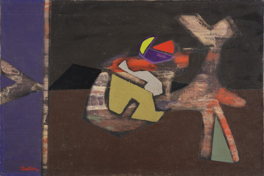 <span class=&#34;artist&#34;><strong>Jankel Adler</strong></span>, <span class=&#34;title&#34;><em>Abstract Composition</em>, 1945</span>