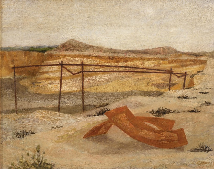 <span class=&#34;artist&#34;><strong>Prunella Clough</strong></span>, <span class=&#34;title&#34;><em>Deserted Gravel Pit</em>, c.1946</span>