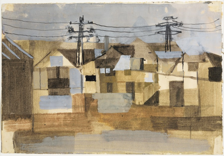 <span class=&#34;artist&#34;><strong>Keith Vaughan</strong></span>, <span class=&#34;title&#34;><em>Houses with Telegraph Poles</em>, 1952</span>