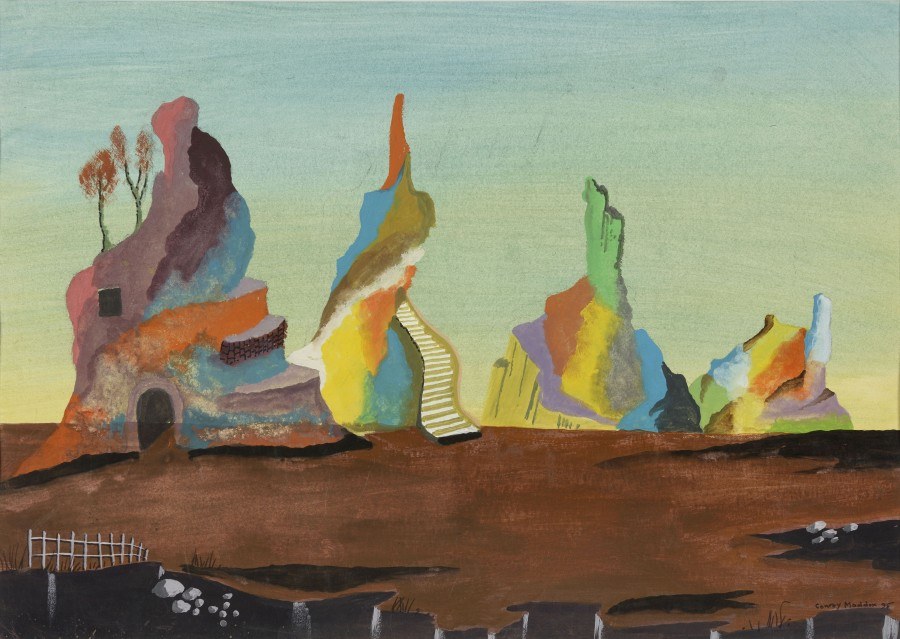 "<span class=""artist""><strong>Conroy Maddox</strong></span>, <span class=""title""><em>Untitled (landscape)</em>, 1995</span>"