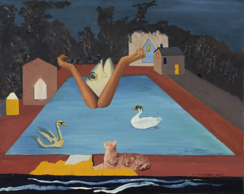 <span class=&#34;artist&#34;><strong>Conroy Maddox</strong></span>, <span class=&#34;title&#34;><em>Untitled (swimming pool with cat)</em>, 2003</span>