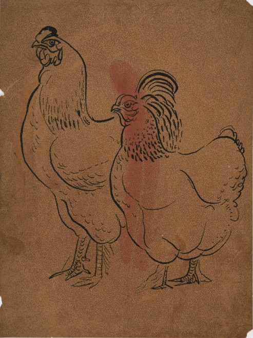 Untitled (Rooster and Hen)
